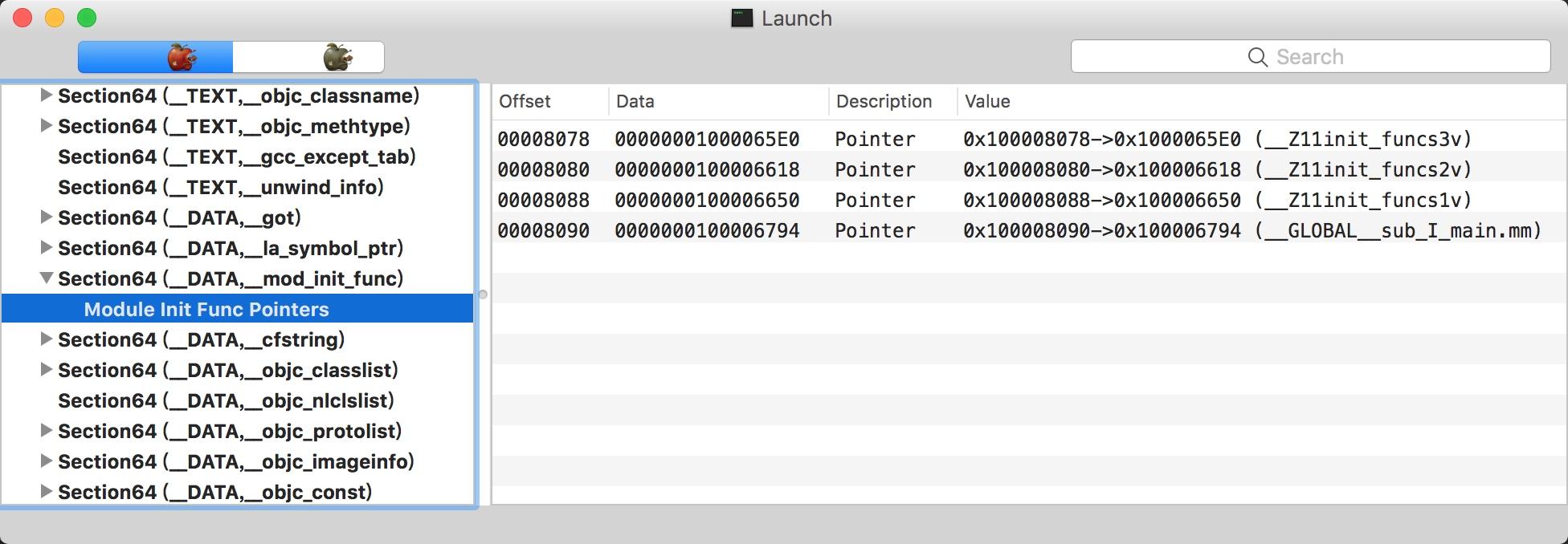 __mod_init_func保存的函数指针